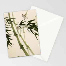 Oriental style painting, bamboo branches Stationery Cards