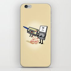 Killer Ipod Clipart (Murder of Retro Cassette Tape) iPhone & iPod Skin