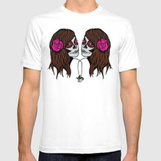 Candy White SMALL Mens Fitted Tee