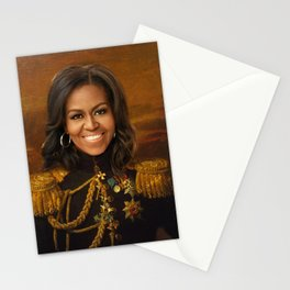 Michelle Obama Poster, Classical Painting, Regal art, General, First Lady, Democrat, Political Stationery Cards