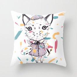 Adding Paint Throw Pillow