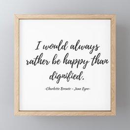 Jane Eyre - Happy Framed Mini Art Print
