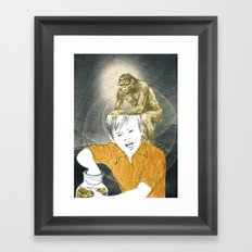 Who's The Monkey, In This Monkey World ? Framed Art Print