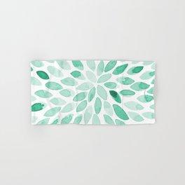 Watercolor brush strokes - aqua Hand & Bath Towel