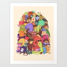 Dogpile Art Print