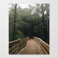 hiking Canvas Prints featuring Hiking by Lynette