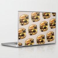huebucket Laptop & iPad Skins featuring Pugs Burger by Huebucket