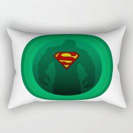 Super Hulk - Circular Hulk - Circular Superman - Green Machine - Digital Artwork  Rectangular Pillow