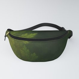 Beautiful Fractal Pines in the Misty Spring Night Fanny Pack