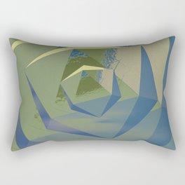 Multifaceted - Serpentine and Lapis Lazuli Rectangular Pillow
