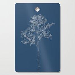 Chrysanthemum Blueprint Cutting Board