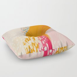 The Abstract Shape Of Spring Floor Pillow
