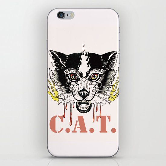 Space Cat King Fire iPhone & iPod Skin