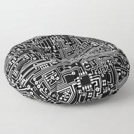 Circuit Board on Black Floor Pillow