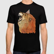 Birthday Lion Mens Fitted Tee Black SMALL