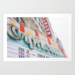 Orpheum Marquee Art Print