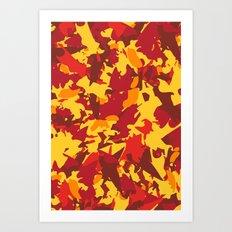 vermont fall camo Art Print