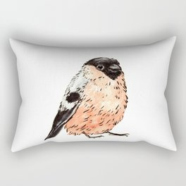 Orange and Black Bird Rectangular Pillow