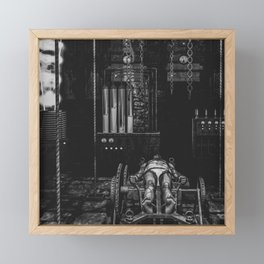 Frankenstein's Monster In The Lab Framed Mini Art Print