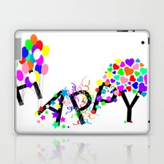 Just Happy Laptop & iPad Skin