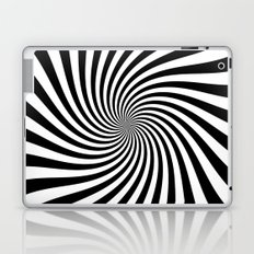 Swirl (Black/White) Laptop & iPad Skin
