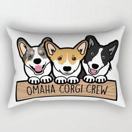 Omaha Corgi Crew Rectangular Pillow