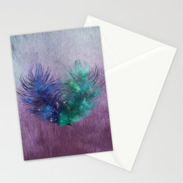 2 Feathers Watercolor Stationery Cards