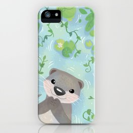 Otter in the Water iPhone Case