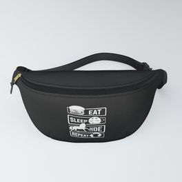 Eat Sleep Ride Repeat - Rider Riding Horse Saddel Fanny Pack