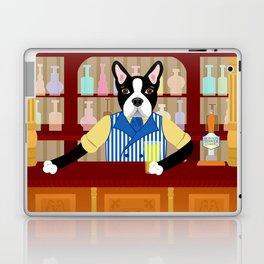 Boston Terrier Beer Pub Laptop & iPad Skin