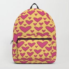 Cute Pink Hearts Seamless Pattern 052#001 Backpack