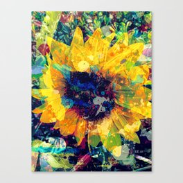 Sunflower Batik Canvas Print