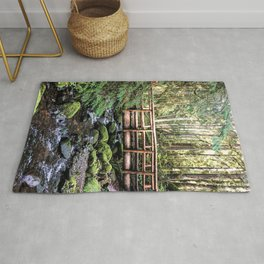 Wanderlust Beauty // Take Me to the Forest Where the Peaceful Waters Flow in the Dense Woods Rug