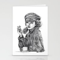 kate moss Stationery Cards featuring Kate Moss by Anja-Catharina