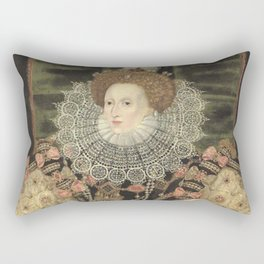 George Gower - Portrait of Elizabeth I of England Rectangular Pillow