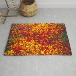 Autumnal Abstraction Rug