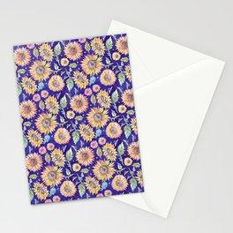 Sunflowers on Indigo Stationery Cards