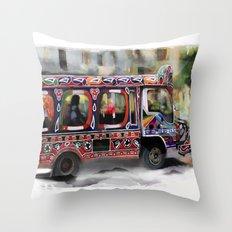 The Magic Bus Throw Pillow