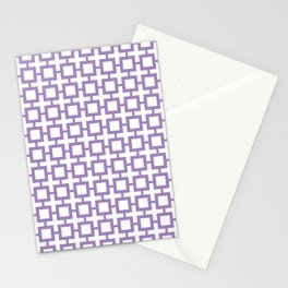 Purple Trellis Stationery Cards