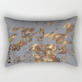 Bronze on Gray Square #abstract #society6 #decor #geometry Rectangular Pillow