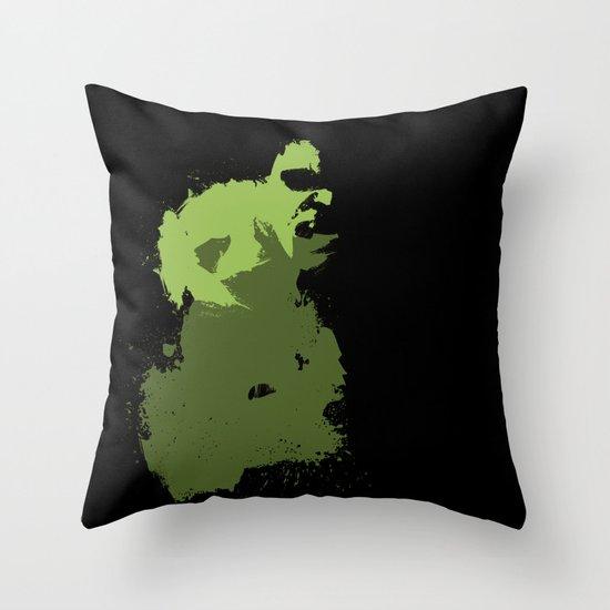 Hulk Splatter Throw Pillow
