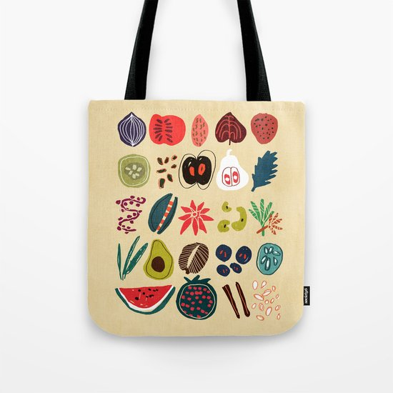 Fruit and Spice Rack Tote Bag