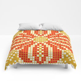 Red & Gold Flower Comforters