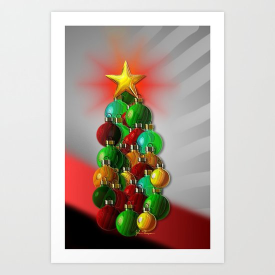 Ornament Tree Art Print