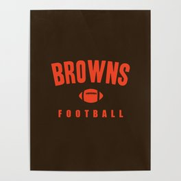 Browns Football Poster