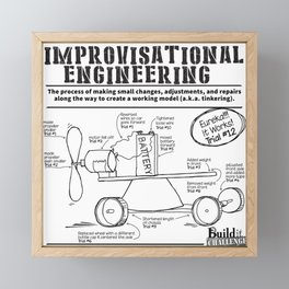 improvisational engineering Framed Mini Art Print