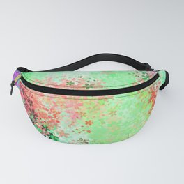 flower pattern abstract background in green pink purple blue Fanny Pack
