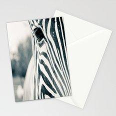 Zebra Face Black & White Stationery Cards