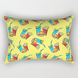 Fun Fast Food (seamless pattern in yellow) Rectangular Pillow