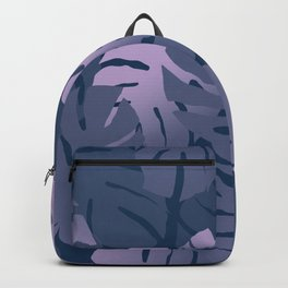 Monstera Leaves Blue Design  Backpack